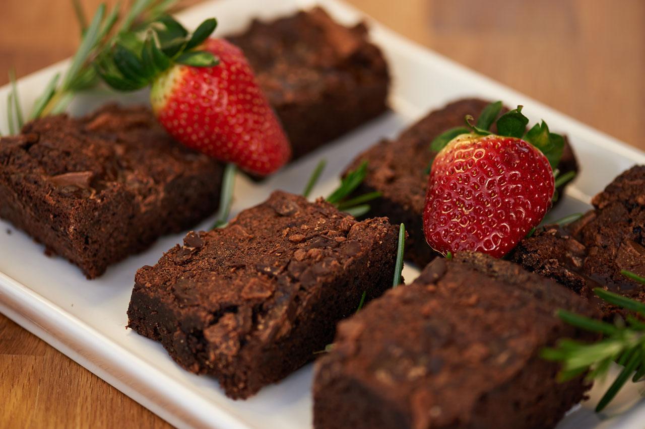 Mandel-Schokoladen Brownies